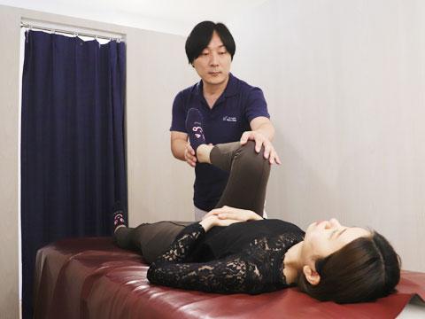 股関節の屈曲、ゆがみの検査