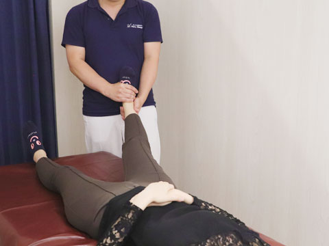 距腿関節の整体施術
