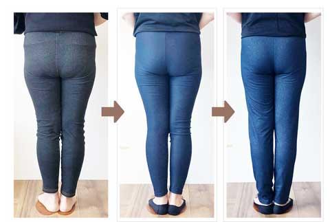 美容整体の骨格矯正によるお尻と脚の変化