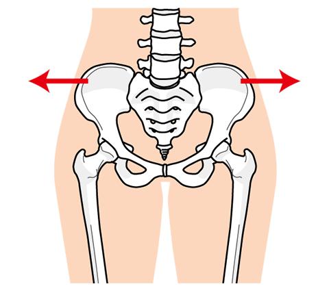 骨盤が開くイメージ